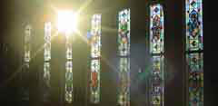 South Nave windows in the sun